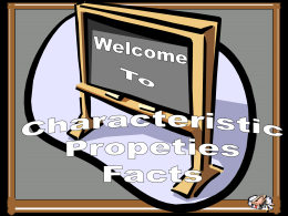 Characteristic Properties Review Game