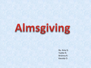 Almsgiving powerpoint