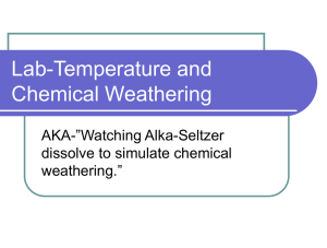 Lab-Temperature and Chemical Weathering