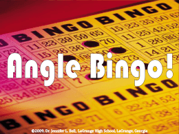 Complementary and Supplementary Angle Bingo!