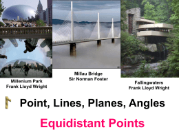 Equidistant Points - wideworldofgeometry