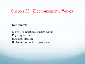 Ch 33 Electromagnetic Waves