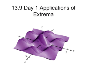 13.9 Applications of Extrema