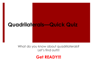 Quadrilaterals—Quick Quiz - Western Reserve Public Media