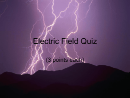 Electric Field Quiz - Physics Playground