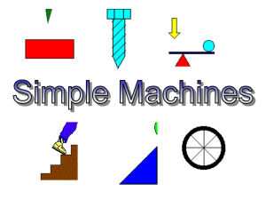PPT- Simple Machines Ken - Mounds View School Websites