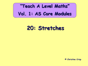 Stretches - A Level Maths Help