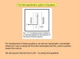 12. Semi-geostrophic theory and the Sawyer