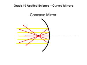 Grade 10 Applied Science – Curved Mirrors
