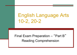 English Language Arts 10-1