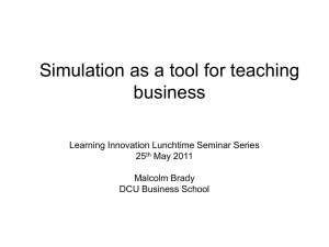 Simulation as a tool for teaching business