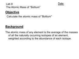 Isotope (type of bolt)