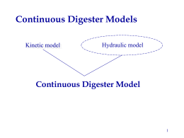 Continuous Digester Model