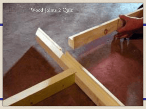 Woodwork joints quiz - Thurso High Technologies