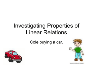 Investigating Properties of Linear Relations
