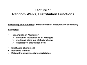 Lecture 1: Random Walks, Distribution Functions