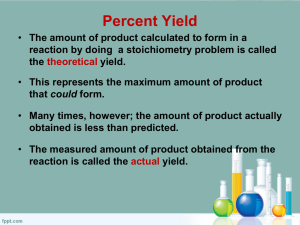 Percent Yield Powerpoint