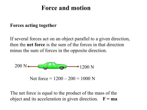 Force and motion 2