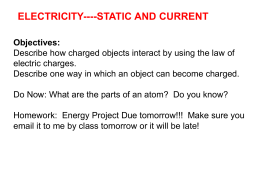 ELECTRICITY----STATIC AND CURRENT