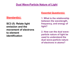 SC3 (f): Relate light emission and the movement of electrons to