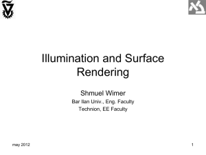 Illumination and Surface Rendering
