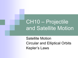 CH10 – Projectile and Satellite Motion