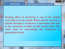 CHAPTER – 14 Electric current and its Effects