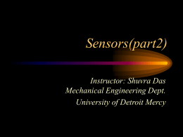 Sensors - University of Detroit Mercy