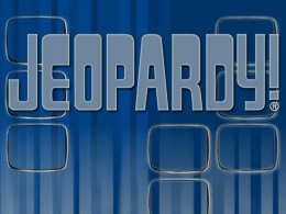 Matter Jeopardy
