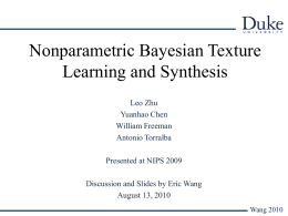 Nonparametric Bayesian Texture Learning and Synthesis
