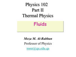 Physics 102 Part II Thermal Physics