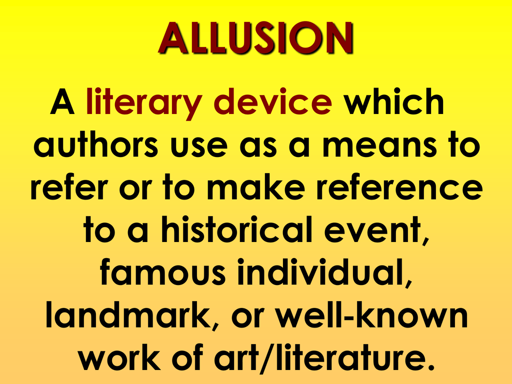 Image result for Photos of allusions to explain