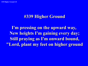 Lord, plant my feet on higher ground