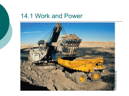 14.1 Work and Power - Science with Higgins