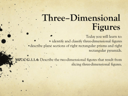 Three –Dimensional Figures