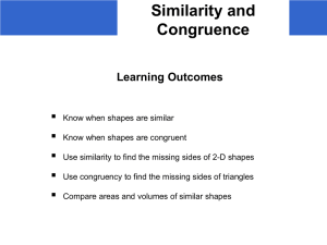 s) Similarity and Congruence - Student - school