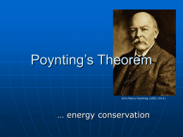 Poynting`s Theorem