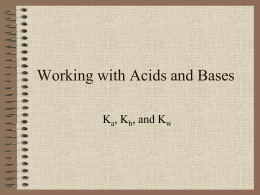 Working with Acids and Bases