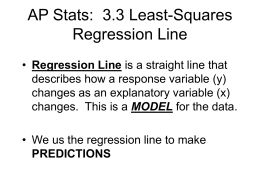 AP Stats: 3.3 Least-Squares Regression Line
