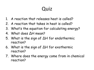 Calculating Enthalpy Changes