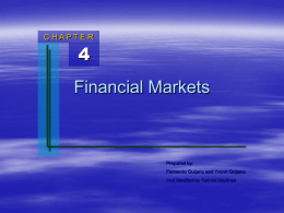 Chapter 4: Financial Markets