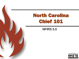 Chief 101 - North Carolina Department of Insurance