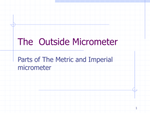 The Outside Micrometer
