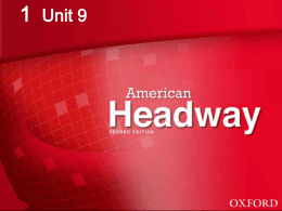American Headway 1: Unit 9 Food you like!