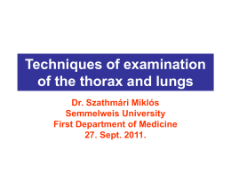 Inspection of the thorax