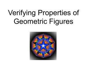 Verifying Properties of Geometric Figures