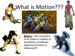 What is Motion??? - Physical Science