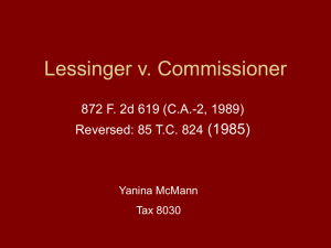 Lessinger v. Commissioner