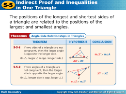 Worksheets Indirect Proof Worksheet With Answers indirect proof and inequalities in one triangle holt geometry 5 white plains public schools