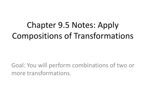 Chapter 9.5 Notes: Apply Compositions of Transformations